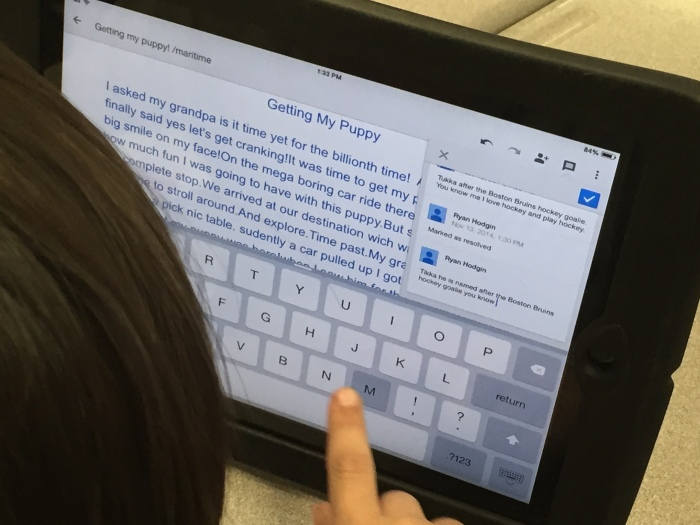 Gr. 3 How to make comments in a Google Doc 1